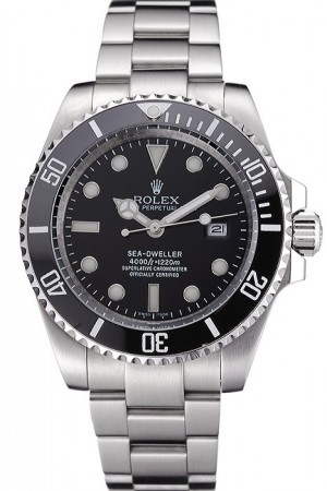 Rolex Sea Dweller Black Dial Stainless Steel Case And Bracelet 622837