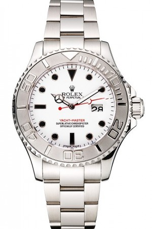 Rolex Yacht-Master White Dial Stainless Steel Case And Bracelet
