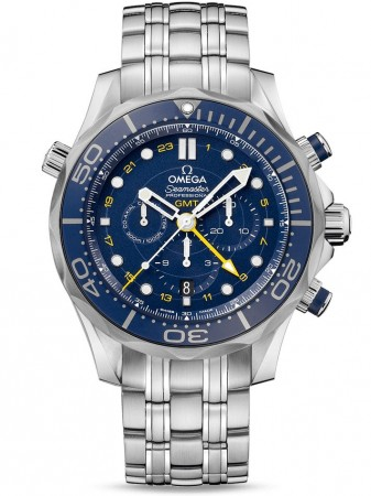 AAA Replica Omega Seamaster Diver 300m Co-Axial GMT Chronograph 44mm Mens Watch 212.30.44.52.03.001