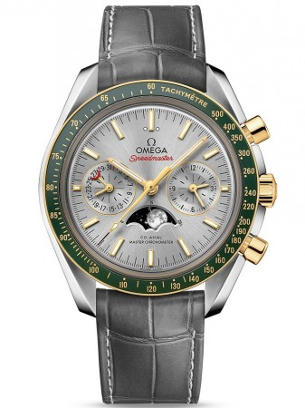 AAA Replica Omega Speedmaster Moonphase Chronograph Master Chronometer Stainless Steel Watch 304.23.44.52.06.001