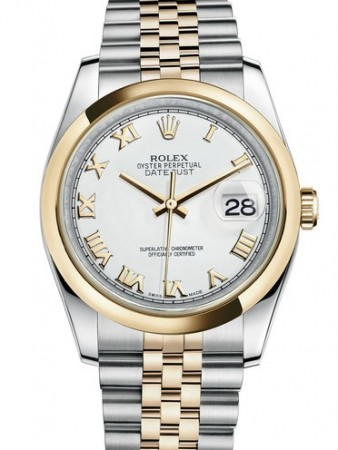 AAA Replica Rolex Datejust 36mm Stainless Steel and Yellow Gold Midsize Watch 116203-0144