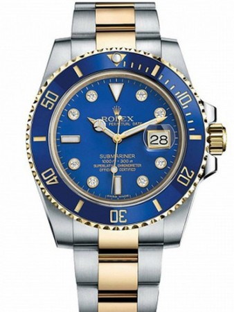 AAA Replica Rolex Oyster Perpetual Submariner Date Mens Watch 116613LB