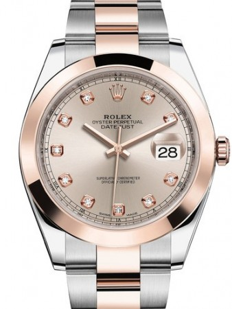 AAA Replica Rolex Datejust 41mm Stainless Steel and Everose Gold Mens Watch 126301-0007