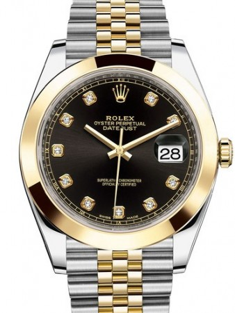 AAA Replica Rolex Datejust 41mm Stainless Steel and Yellow Gold Mens Watch 126303-0006