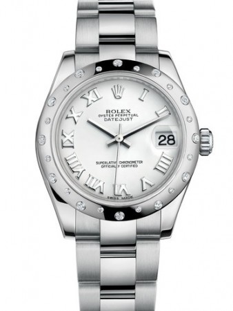 AAA Replica Rolex Datejust 31mm Stainless Steel White Roman Oyster Ladies Watch 178344-0028