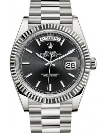 AAA Replica Rolex Day-Date 40mm White Gold Mens Watch 228239-0004