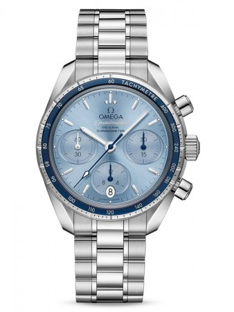 AAA Replica Omega Speedmaster 38mm Co-Axial Blue Dail Watches 324.30.38.50.03.001