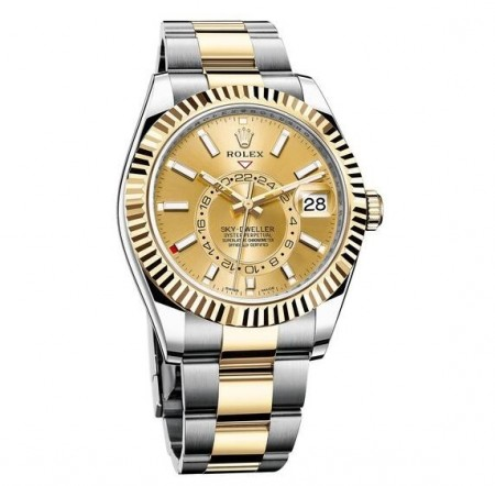 AAA Replica Rolex Oyster Perpetual Sky-Dweller Dual Time Zone Automatic Watch 326933