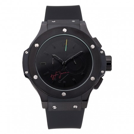 Hublot Limited Edition Ayrton Senna 2009 Black Dial Watch 98073