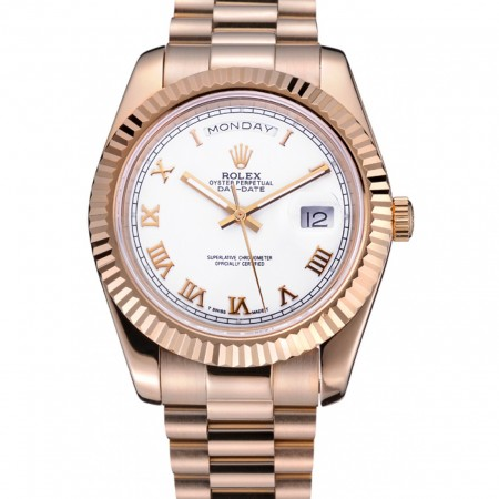 Rolex Day-Date White Dial Gold Bracelet 622546