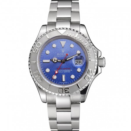 Swiss Rolex Yacht-Master Blue Dial Stainless Steel Case And Bracelet