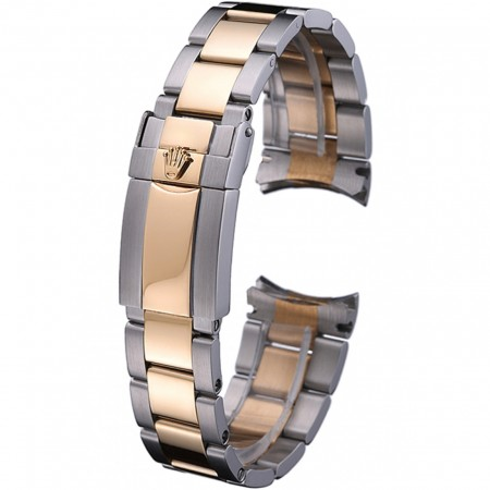 Rolex Plated Yellow Gold and Stainless Steel Link Bracelet 622485