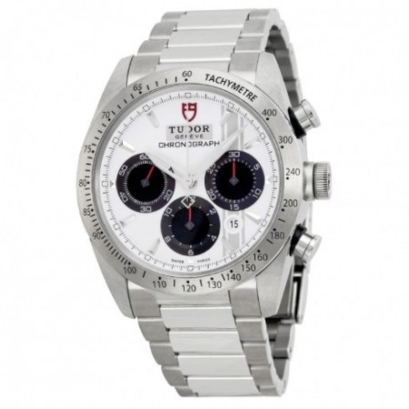 AAA Replica Tudor Fastrider Chronograph White Dial Stainless Steel Mens Watch 42000