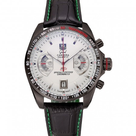 Tag Heuer Carrera Black Stainless Steel Case White Dial 98246