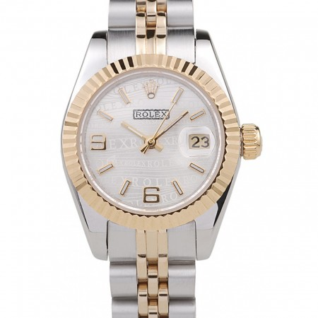 Rolex Datejust Two Tone Stainless Steel Yellow Gold Plated 98079