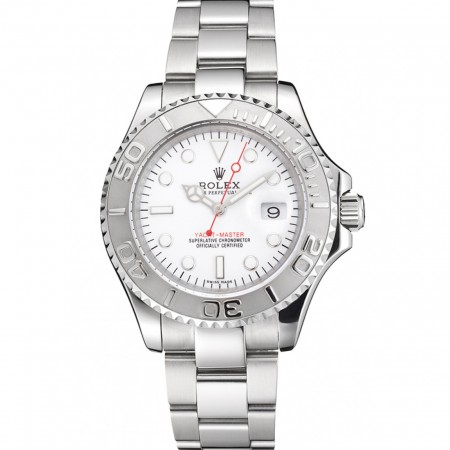 Swiss Rolex Yacht-Master White Dial Staniless Steel Case And Bracelet