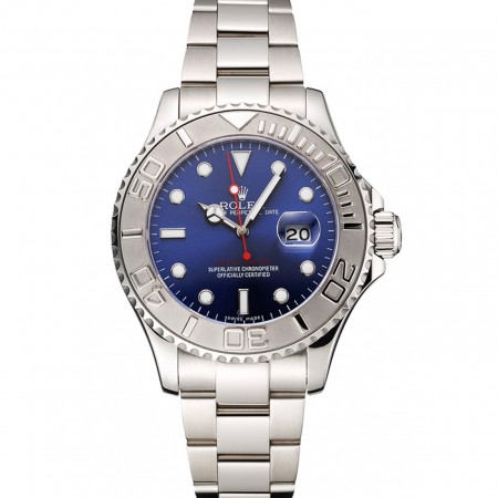 Rolex Yacht-Master Blue Dial Stainless Steel Case And Bracelet