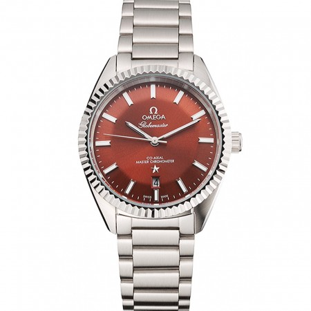 Omega Globemaster Brown Dial Stainless Steel Case And Bracelet