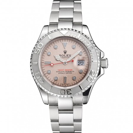 Swiss Rolex Yacht-Master Champagne Dial Stainless Steel Case And Bracelet