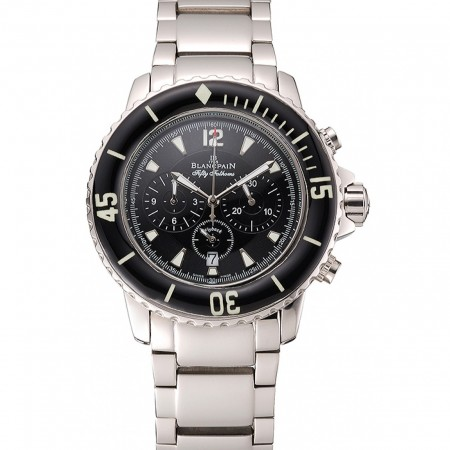 Blancpain Fifty Fathoms Flyback Chronograph Black Dial Stainless Steel Case And Bracelet 1453771