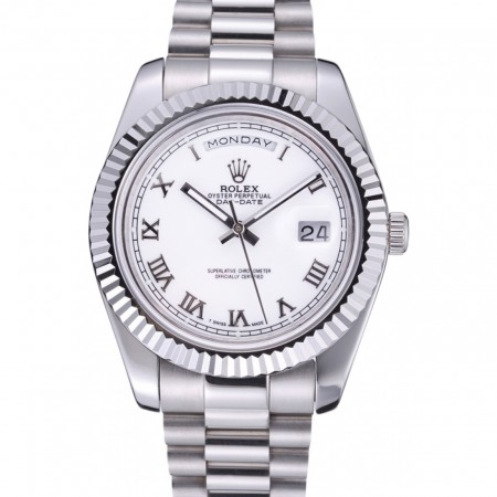 Rolex Day-Date White Dial Stainless Steel Bracelet 622547
