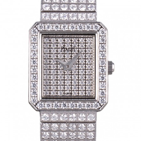 Piaget Swiss Limelight Diamonds Encrusted Stainless Steel Watch 80294