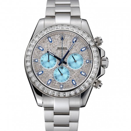 Rolex Cosmograph Daytona Diamond Dial Stainless Steel Case And Bracelet 1454251