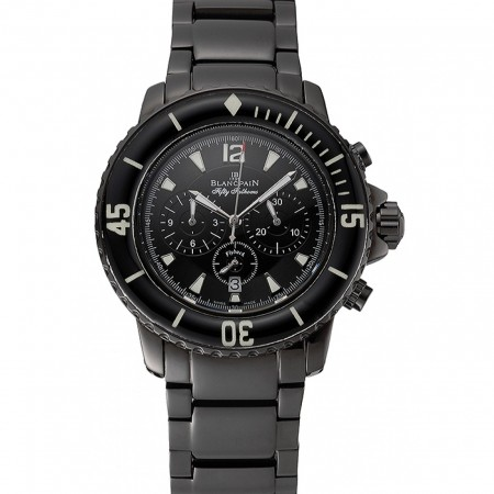 Blancpain Fifty Fathoms Flyback Chronograph Black Dial Black PVD Coated Case And Bracelet 1453770