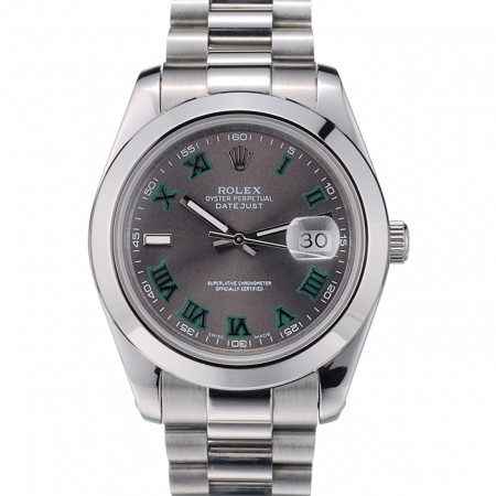 Rolex DateJust Grey Dial Stainless Steel Strap 41982