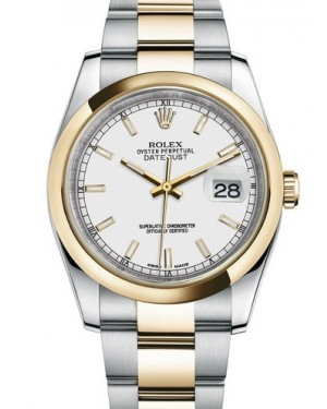 AAA Replica Rolex Datejust 36mm Stainless Steel and Yellow Gold Midsize Watch 116203-0124