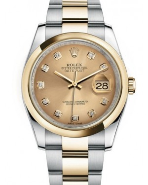 AAA Replica Rolex Datejust 36mm Stainless Steel and Yellow Gold Midsize Watch 116203-0130