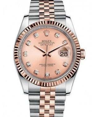 AAA Replica Rolex Datejust 36mm Stainless Steel and Rose Gold Midsize Watch 116231-0057