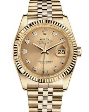 AAA Replica Rolex Datejust 36mm Yellow Gold Midsize Watch 116238-0061