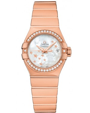 AAA Replica Omega Constellation Brushed Chronometer Star 27mm Ladies Watch 123.55.27.20.05.003