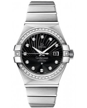 AAA Replica Omega Constellation Brushed Chronometer 31mm Ladies Watch 123.55.31.20.51.001