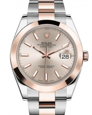 AAA Replica Rolex Datejust 41mm Stainless Steel and Everose Gold Mens Watch 126301-0009