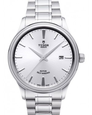 AAA Replica Tudor Style 41mm Silver Dial Steel Strap Mens Watch 12700-1