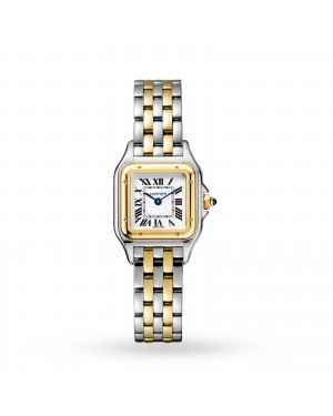 Swiss Panthère de Cartier watch, Small model, yellow gold and steel