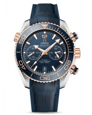 AAA Replica Omega Seamaster Planet Ocean 600M Co-Axial Master Chronograph Two Tone Watch 215.23.46.51.03.001