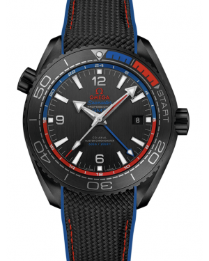 AAA Replica Omega Seamaster Planet Ocean 600m Co-Axial Master Chronometer GMT ETNZ Deep Black Mens Watch 215.92.46.22.01.004