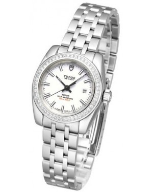 AAA Replica Tudor Classic Date Mother Of Pearl Dial Steel Strap Ladies Watch 22020-1