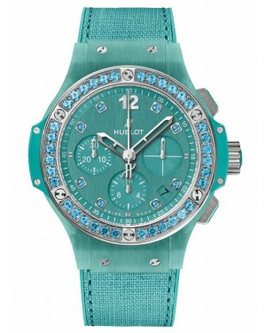 AAA Replica Hublot Big Bang Linen Turquoise Watch 341.XL.2770.NR.1237