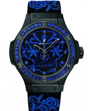 AAA Replica Hublot Big Bang Broderie Sugar Skull Fluo Cobalt Blue Watch 343.CL.6590.NR.1201