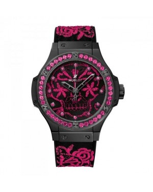 AAA Replica Hublot Big Bang Broderie Sugar Skull Fluo Hot Pink Watch 343.CP.6590.NR.1233