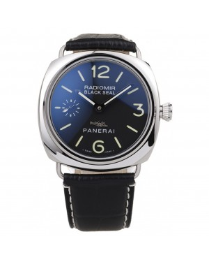 Panerai Radiomir Polished Stainless Steel Case Black Dial Black Leather Strap 98140