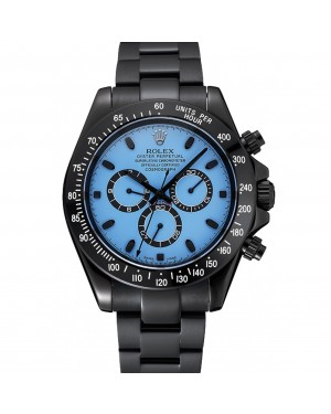 Rolex Cosmograph Daytona Blue And Black Dial Black Stainless Steel Case And Bracelet 1454250