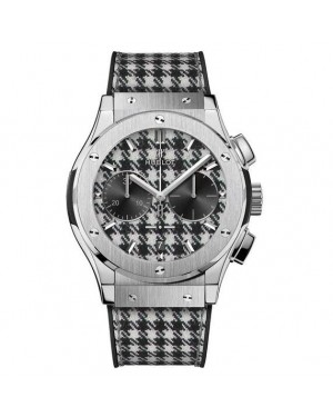 """AAA Replica Hublot Classic Fusion Chronograph Italia Independent """"Pied De Poule"""" Watch 521.NX.2702.NR.ITI17"""