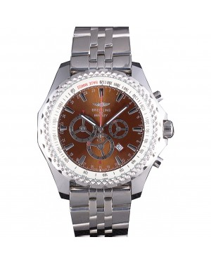 Breitling for Bentley Stainless Steel Strap Brown Dial