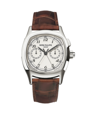 AAA Replica Patek Philippe Split-Seconds Chronograph Stainless Steel Silver Watch 5950A-001
