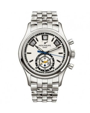 AAA Replica Patek Philippe Annual Calendar Chronograph Stainless Steel Leicester Watch 5960/1A-011
